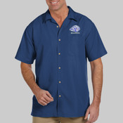 EMC Mason - M560 Harriton Men's Barbados Textured Camp Shirt