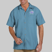EMB Lions - M560 Harriton Men's Barbados Textured Camp Shirt