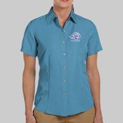 EMB Lions - M560W Harriton Ladies' Barbados Textured Camp Shirt