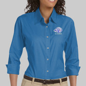 EMB Lions - DP625W Devon & Jones Ladies' Three-Quarter Sleeve Stretch Poplin Blouse