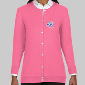 EMB Lions - DP181W Devon & Jones Perfect Fit™ Ladies' Ribbon Cardigan